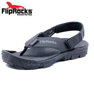 FlipRocks(フリップロックス)フリップフロップ ブラック 25cm〜30cm アウトドアサンダル スポーツサンダル トレッキングシューズ 6degrees