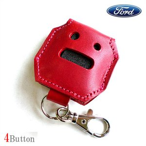 6DEGREES ORIGINAL KEYCASE RED(キーケース・レッド)FORD(フォード)車用4ボタン/エクスプローラー/エコノライン/リモコン/キーレス/アメ車)|6degrees