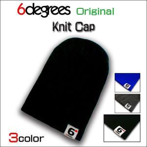 6DEGREES ORIGINAL/KNIT CAP/BLACK/シックスディグリーズ オリジナル/ニット キャップ/ブラック/全3色|6degrees