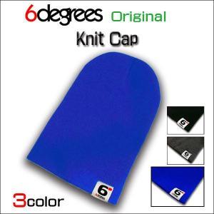 6DEGREES ORIGINAL/KNIT CAP/ROYAL BLUE/シックスディグリーズ オリジナル/ニット キャップ/ロイヤルブルー/全3色|6degrees