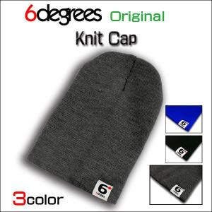 6DEGREES ORIGINAL/KNIT CAP/CHARCOAL GRAY/シックスディグリーズ オリジナル/ニット キャップ/チャコールグレー/全3色|6degrees