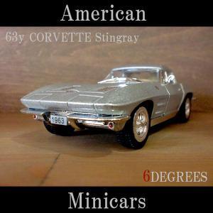 American Minicars アメリカンミニカーズ/63y CORVETTE Stingray SILVER/コルベットスティングレイ シルバー/C2/シボレー|6degrees