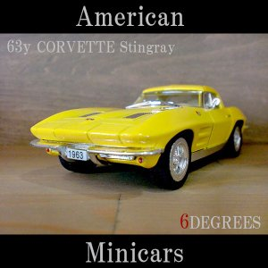 American Minicars アメリカンミニカーズ/63y CORVETTE Stingray YELLOW/コルベットスティングレイ イエロー/C2/シボレー|6degrees