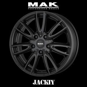『ホイール4本セット』MAK WHEELS JACKIY Matte Black 17×7.0J 5H/120 +50 マックホイール ジャッキー マットブラック BMW MINI R60 専用設計|6degrees