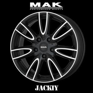 『ホイール4本セット』MAK WHEELS JACKIY Ice Black 18×7.0J 5H 112 +54 マックホイール ジャッキー アイスブラック BMW MINI F56 専用設計|6degrees