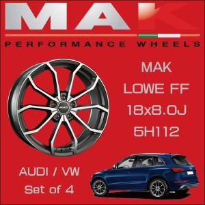 『ホイール4本セット』MAK WHEELS LOWE FF GM 18×8.0J 5H/112 マックホイール レーベFF ガンメタリックミラー  VW/AUDI車専用設計|6degrees