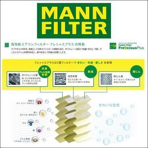 MANN FILTER マンフィルター FP-M06 エアコン キャビン フィルター フレシャスプラス 輸入車用 ポリフェノール BENZ C、CLKクラス(203、209)左ハンドル用|6degrees|02