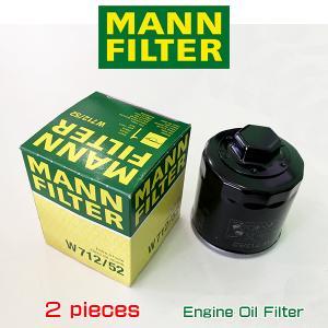 お買い得2個セット! MANN FILTER マンフィルター W712/52  フォルクスワーゲン ポロ ルポ/AOPOF004|6degrees