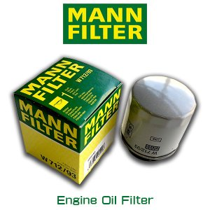 MANN FILTER マンフィルター W712/93  オイルエレメント メンテナンス フォルクスワーゲン ゴルフ/AOPOF053|6degrees