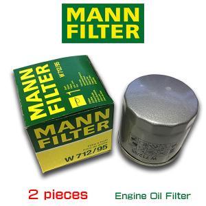 お買い得2個セット MANN FILTER マンフィルター W712/95  フォルクスワーゲン ゴルフ7 ポロ5/AOPOF075|6degrees