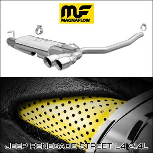 MAGNAFLOW CAT-BACK EXHAUST SYSTEM JEEP RENEGADE Street L4 2.4L #19119 マグナフロー レネゲード マフラー アメ車|6degrees