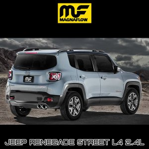 MAGNAFLOW CAT-BACK EXHAUST SYSTEM JEEP RENEGADE Street L4 2.4L #19119 マグナフロー レネゲード マフラー アメ車|6degrees|02