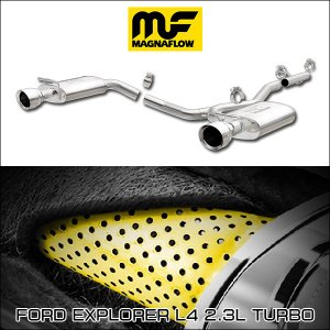 MAGNAFLOW CAT-BACK EXHAUST SYSTEM FORD EXPLORER L4 2.3L TURBO #19280 マグナフロー エクスプローラー マフラー アメ車|6degrees