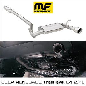 MAGNAFLOW CAT-BACK EXHAUST SYSTEM JEEP RENEGADE TrailHawk L4 2.4L マグナフロー レネゲード マフラー アメ車|6degrees