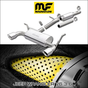 MAGNAFLOW CAT-BACK EXHAUST SYSTEM JEEP WRANGLER V6 3.6L #19326 マグナフロー JK ラングラー マフラー アメ車|6degrees