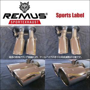 REMUS SPORTS LABEL EXHAUST GOLF6 GTI/GTI エディション35/専用テール単品 Φ102 アングル 左右/0026 70S 6degrees 02