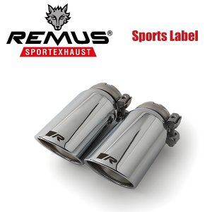 REMUS SPORTS LABEL EXHAUST GOLF7 GTI/GTI パフォーマンス/専用テール単品 Φ84 アングル W 左右/0046 55S|6degrees