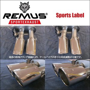 REMUS SPORTS LABEL EXHAUST GOLF7 GTI/GTI パフォーマンス/専用テール単品 Φ84 アングル W 左右/0046 55S|6degrees|02
