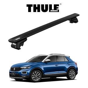 VW T-Roc ウィングバー EVO (ブラック) ルーフラック 『車種別セット』THULE Base carriers (スーリーベースキャリア) キャリアラック パーツ 6degrees