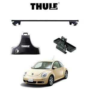 『車種別セット』THULE Base carriers (スーリーベースキャリア)スクエアバー・VW New Beetle/フォルクスワーゲン ニュービートル/キャリアラック|6degrees