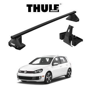 『車種別セット』THULE Base carriers (スーリーベースキャリア)スクエアバー・VW GOLF 6/フォルクスワーゲン ゴルフ 6/キャリアラック|6degrees