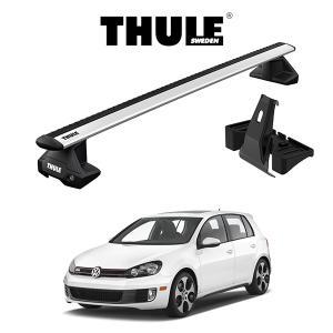 『車種別セット』THULE Base carriers (スーリーベースキャリア)ウイングバー・VW GOLF 6/フォルクスワーゲン ゴルフ 6/キャリアラック|6degrees