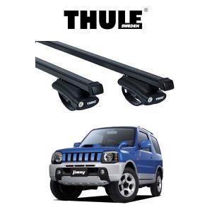 『車種別セット』THULE Base carriers (ベースキャリア)スクエアバー・SUZUKI JIMNY JB23W(ルーフレール付き) スズキ ジムニー ルーフラック|6degrees