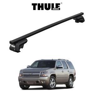 『車種別セット』THULE Base carriers (スーリーベースキャリア)スクエアバー・CHEVROLET TAHOE シボレー・タホ (ルーフレール付き) キャリアラック 6degrees