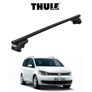 『車種別セット』THULE Base carriers (スーリーベースキャリア)スクエアバー・VW TOURAN/フォルクスワーゲン トゥーラン(ルーフレール付き)/キャリアラック|6degrees