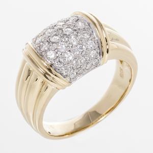 リング ダイヤ 指輪 イエローゴールド メレ 0.56ct K18YG|7-marui