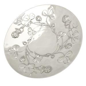 クリストフル シルバープレート 皿 フラワーモチーフ Christofle|7-marui