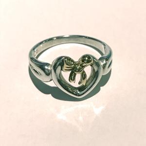 ティファニー リング 指輪 シルバー ハートウィズボウ SV925 K18YG サイズ9 TIFFANY&Co|7-marui