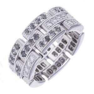 カルティエ 指輪 リング マイヨンパンテール フルダイヤモンド ファンシーグレイ 可動チェーン K18WG Cartier|7-marui