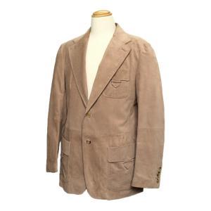 グッチ メンズ ジャケット レザー スエード ピッグスキン ベージュ サイズ54 GUCCI|7-marui