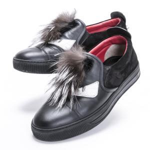 フェンディ 靴 メンズ バッグバグズ モンスター スリッポン フォックスファー FENDI|7-marui