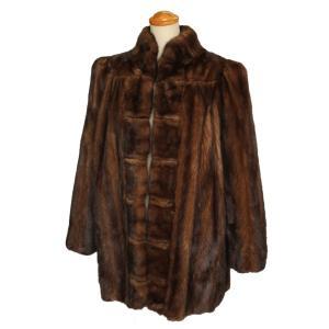エンバ レディース 毛皮 コート ショート ミンク ブラウン系 EMBA 7-marui