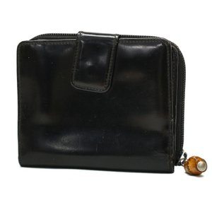 グッチ 財布 二つ折り エナメル バンブー 035.3314 ブラック(黒系) 【GUCCI|7-marui