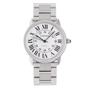 カルティエ 時計 メンズ ロンドソロXL W6701011 自動巻き SS シルバー文字盤 Cartier|7-marui