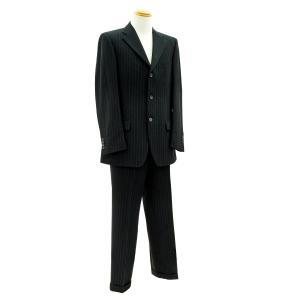 グッチ スーツ メンズ ブラック(黒) ダブルピンストライプ 裾ダブル GUCCI|7-marui