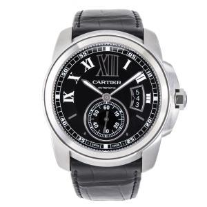 カルティエ 時計 メンズ カリブル・ドゥ・カルティエ W7100041 SS 革ベルト新品 自動巻 コンプリート済 Cartier|7-marui
