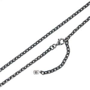 ビザール Bizarre シルバー2面カットチェーン Lサイズ+長方形チャーム 45cm SCC003SV...