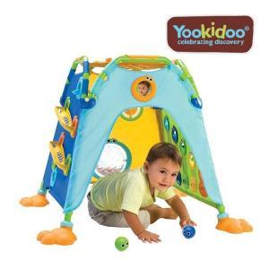 限定数量特価 遊具 Yookidoo プレイテント ティーレックス ユーキッド  ボールテント 知育 キッズ 室内 子供 子ども おもちゃ ママ 梅雨 雨 一部地域 送料無料|716baby