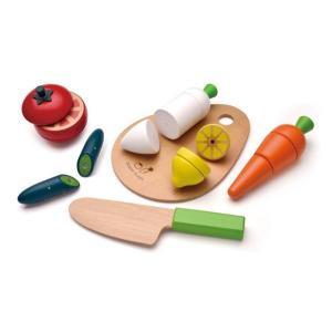 ままごと WOODY PUDDY ウッディプッディ はじめてのおままごと サクサクお料理デビューセット ディンギー おもちゃ 野菜 プレゼント 安全 調理 インスタ|716baby