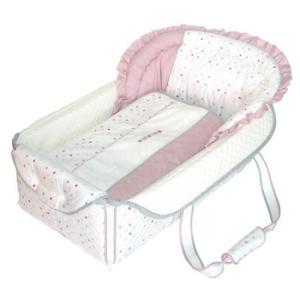 フジキ 日本製 バッグdeクーファン ベビーポルカ ピンク バッグでクーファンfuziki クーハン バック おでかけ キャリー オムツ替え 716baby
