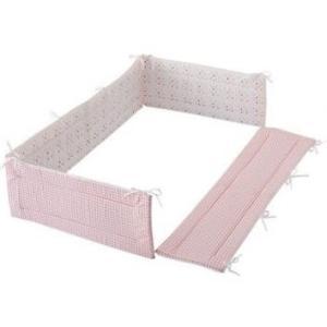 フジキ ベビーポルカ ベッドガードパット ピンク ベッドガード 寝具 ベビー ベッド 保護 赤ちゃん 室内 カバー パット|716baby