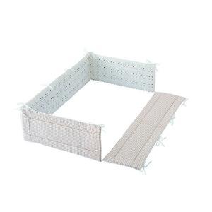 フジキ ベビーポルカ ベッドガードパット セピア ベッドガード 寝具 ベビー ベッド 保護 赤ちゃん 室内 カバー パット|716baby