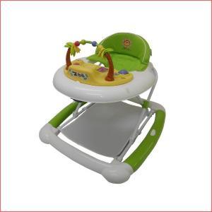 ベビーウォーカーZOO グリーン JTC ジェーティーシー まあるい歩行器 シンプル 乗用 おもちゃ 歩行訓練 便利 折りたたみ 誕生日プレゼント 子供 クリスマス|716baby