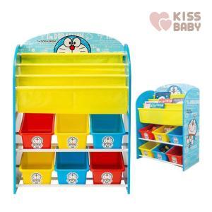 おもちゃ収納 アイムドラえもん おもちゃと絵本の収納ラック シンセーインターナショナル おもちゃ箱 マガジン収納ラック 子ども部屋 キッズルーム 片付け|716baby