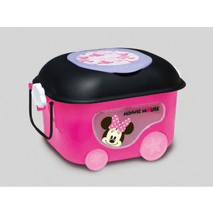 ギフト包装不可 ミニーマウス窓付きおもちゃ箱 錦化成 nishiki kasei 女の子 Disney バケツ 収納 おかたづけ 物入れ 家具 子供用タンス 人気商品|716baby