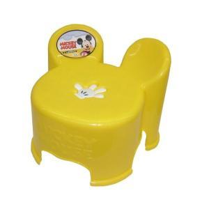 【ギフト包装不可】 錦化成 ミッキーマウス キャラ・スツール キッズチェア YE  イエロー ミッキー ディズニー disney キャラ スツール 椅子 イス ローチェア|716baby